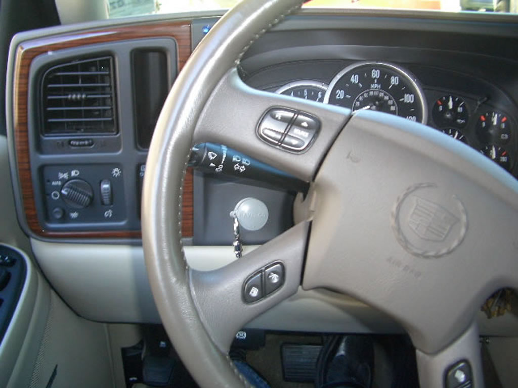 02 Escalade steering wheel control removal? on
